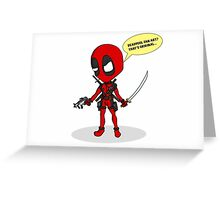 Deadpool chibi Greeting Card