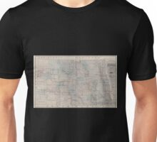 0156 Railroad Maps Sectional map of the state of North Dakota published by authority of the commissioners of railroads under the direction of the governor drawn and compiled Unisex T-Shirt