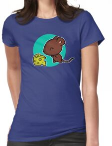 Cute Mouse Womens Fitted T-Shirt