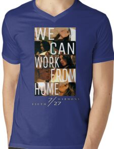 FIFTH HARMONY PHOTOSHOOT, WE CAN WORK FROM HOME Mens V-Neck T-Shirt