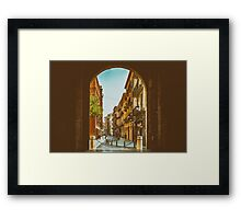Gate Of Torres de Quart In Valencia Framed Print