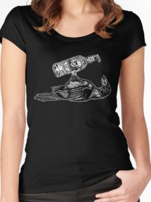 Drunk Crow Women's Fitted Scoop T-Shirt