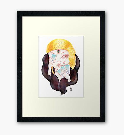 Tarot Gypsy Girl Framed Print