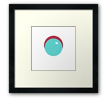 Simplistic Bubble Framed Print