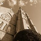 St. Andrews In Sepia by WildestArt