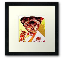 Puppy with Cigar Framed Print