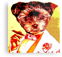 Puppy with Cigar Metal Print