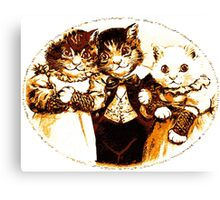 Wee Three Cats Canvas Print