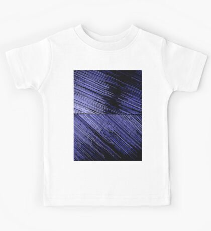 Line Art - The Scratch, blue Kids Tee
