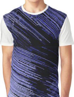 Line Art - The Scratch, blue Graphic T-Shirt