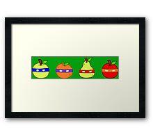 Teenage Mutant Ninja Fruit Framed Print