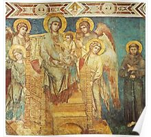 Mary, Jesus, Saints and angels Poster
