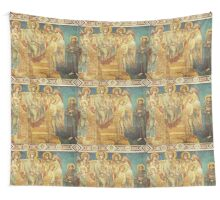 Mary, Jesus, Saints and angels Wall Tapestry