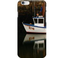 Boat at St Andrews Harbour, Scotland iPhone Case/Skin