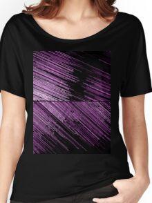 Line Art - The Scratch, pink/purple Women's Relaxed Fit T-Shirt