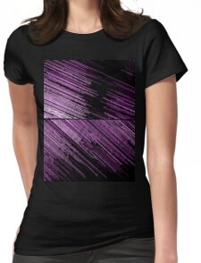 Line Art - The Scratch, pink/purple Womens Fitted T-Shirt