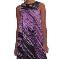 Line Art - The Scratch, pink/purple A-Line Dress