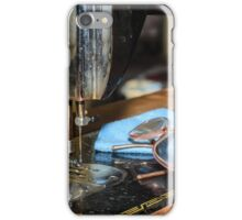close up of old sewing machine iPhone Case/Skin