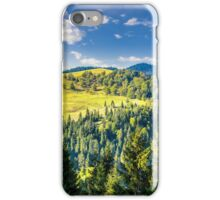 coniferous forest on the hill iPhone Case/Skin