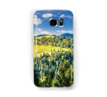 coniferous forest on the hill Samsung Galaxy Case/Skin