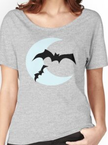 Bat Moon - Halloween Vector Women's Relaxed Fit T-Shirt