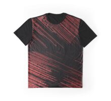 Line Art - The Scratch, red Graphic T-Shirt