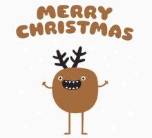 Funny Christmas Reindeer One Piece - Short Sleeve