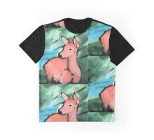 Peach Doe Graphic T-Shirt