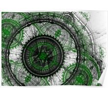 Abstract mechanical fractal Poster