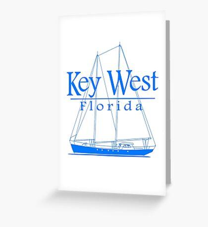 Blue Key West Sailing Greeting Card