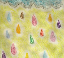 Rainy day with crayons by printmakermama