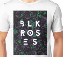 Blk Roses w/Type Unisex T-Shirt