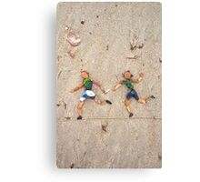 Hand it over, Mate! - Relay Running Canvas Print