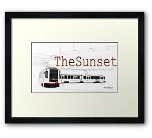 Muni Train in the Sunset Framed Print