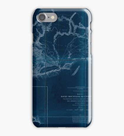 0075 Railroad Maps Rocky Mountains to Puget Sound from explorations and Inverted iPhone Case/Skin