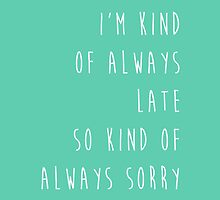 Kind of Always Late - Cosima Niehaus by tiffanyrose