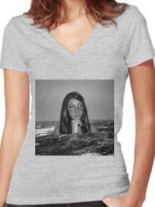 Self-destruction Women's Fitted V-Neck T-Shirt