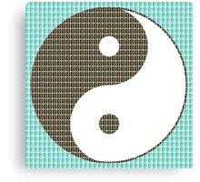 Yin and Yang - Blue Canvas Print