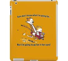 Calvin Go for it! iPad Case/Skin