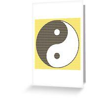 Yin and Yang - Yellow Greeting Card