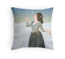 Idris in the Snow (Doctor Who) Throw Pillow