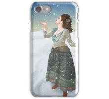 Idris in the Snow (Doctor Who) iPhone Case/Skin