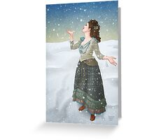 Idris in the Snow (Doctor Who) Greeting Card