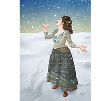 Idris in the Snow (Doctor Who) Photographic Print