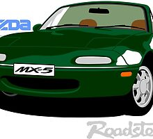 Mazda MX-5 green by car2oonz