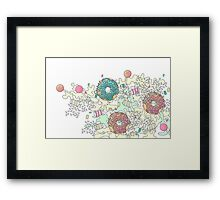 Pastel Camo Sweets Framed Print