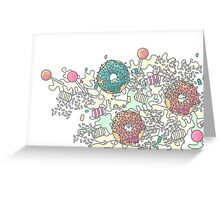 Pastel Camo Sweets Greeting Card
