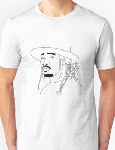 Future Hendrix black and white outline Unisex T-Shirt