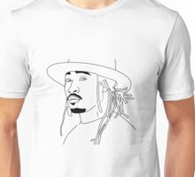 Future Hendrix black and white outline Unisex T-Shirt