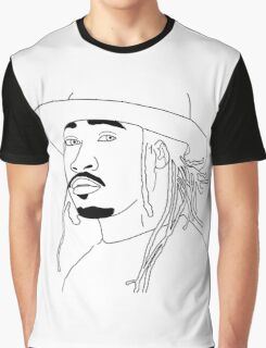 Future Hendrix black and white outline Graphic T-Shirt